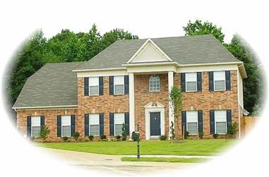 4-Bedroom, 2744 Sq Ft French House Plan - 170-2952 - Front Exterior