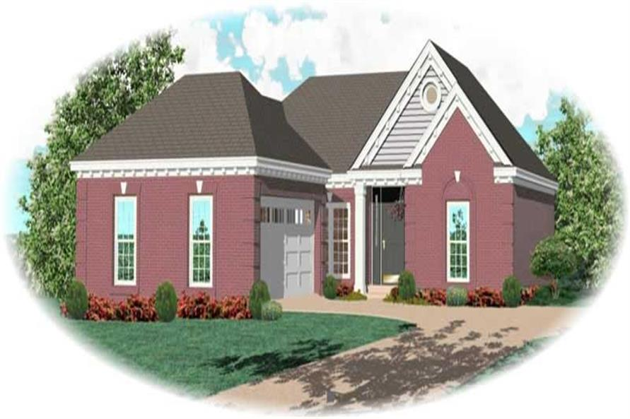 2-Bedroom, 1448 Sq Ft French Home Plan - 170-2954 - Main Exterior