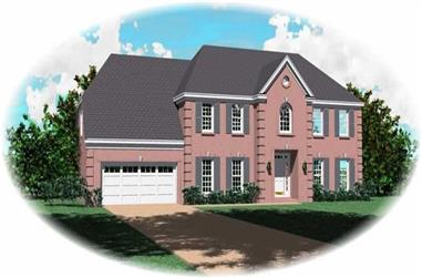 4-Bedroom, 3514 Sq Ft French Home Plan - 170-2957 - Main Exterior