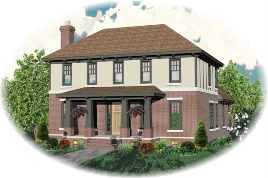 3-Bedroom, 3115 Sq Ft Craftsman House Plan - 170-2963 - Front Exterior