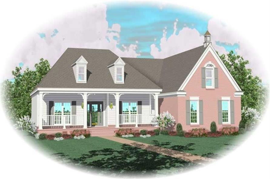 3-Bedroom, 2033 Sq Ft Country House Plan - 170-2964 - Front Exterior