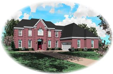 4-Bedroom, 3103 Sq Ft French House Plan - 170-2967 - Front Exterior