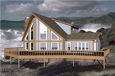 3-Bedroom, 1828 Sq Ft Contemporary House Plan - 170-2970 - Front Exterior