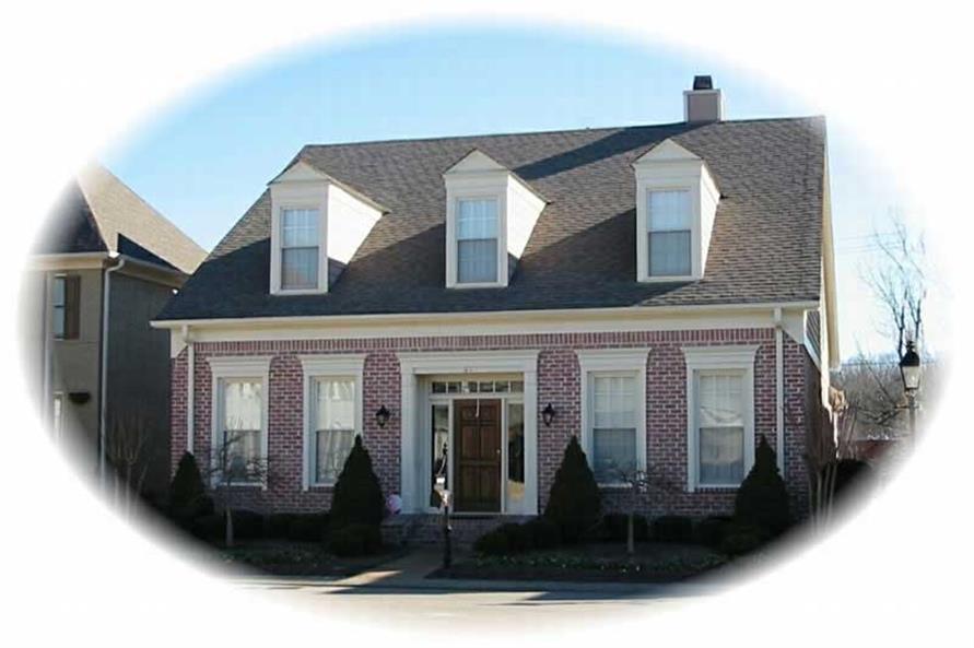 3-Bedroom, 2556 Sq Ft Cape Cod Home Plan - 170-2977 - Main Exterior