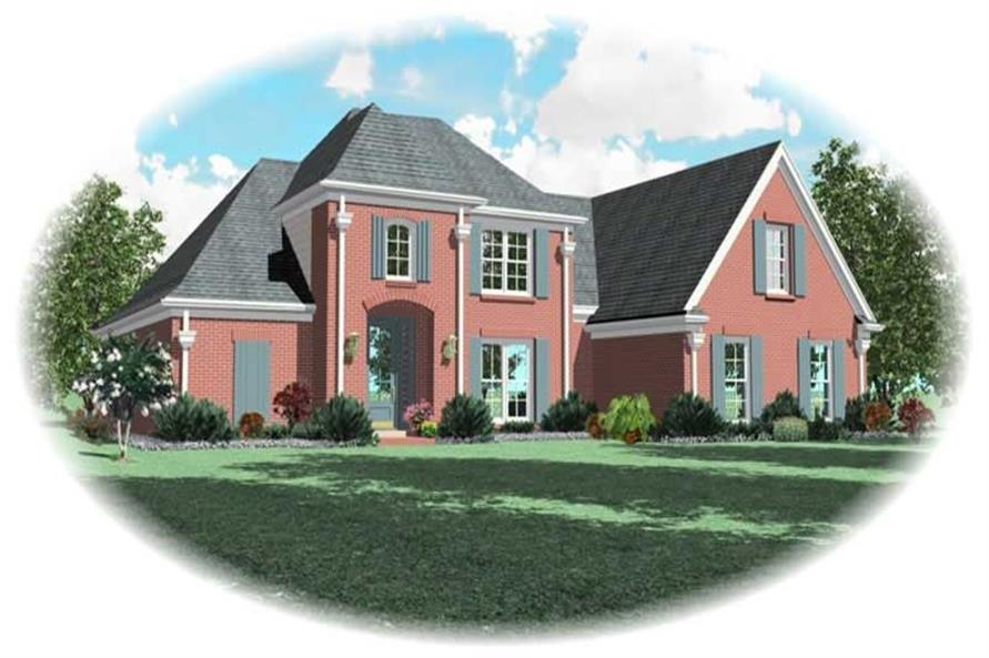 4-Bedroom, 2896 Sq Ft Country House Plan - 170-2979 - Front Exterior