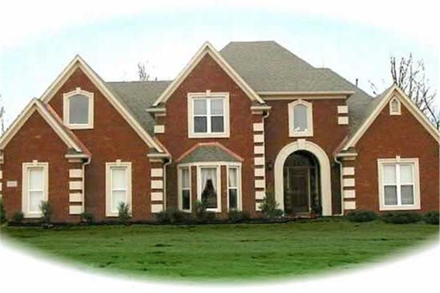 4-Bedroom, 3160 Sq Ft European House Plan - 170-2983 - Front Exterior