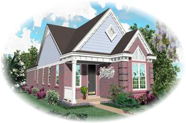 2-Bedroom, 1213 Sq Ft Cape Cod House Plan - 170-2985 - Front Exterior