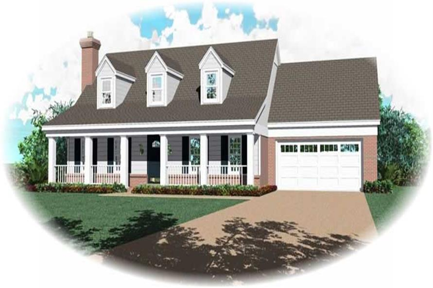 3-Bedroom, 1757 Sq Ft Country Home Plan - 170-2986 - Main Exterior