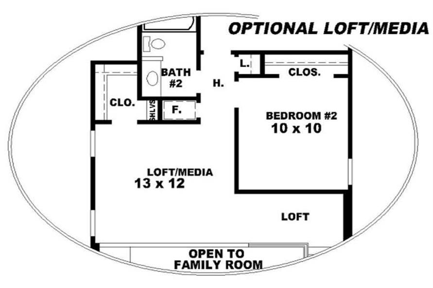 LOFT of this 4-Bedroom,1799 Sq Ft Plan -1799