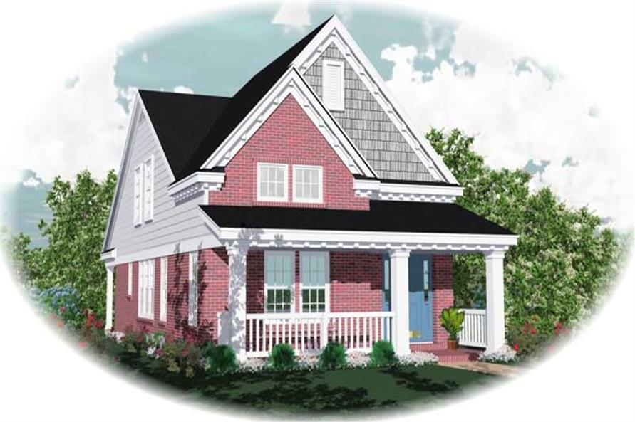 3-Bedroom, 1547 Sq Ft Small House Plans - 170-2992 - Main Exterior