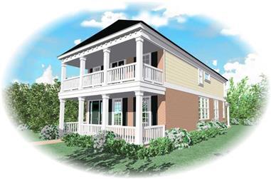 3-Bedroom, 2092 Sq Ft Coastal Home Plan - 170-2993 - Main Exterior