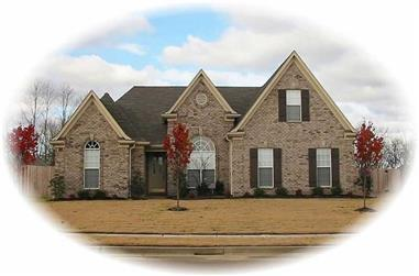 3-Bedroom, 2229 Sq Ft French House Plan - 170-2994 - Front Exterior