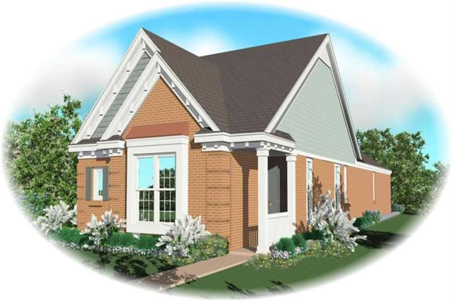 3-Bedroom, 1307 Sq Ft Small House Plans - 170-2995 - Front Exterior