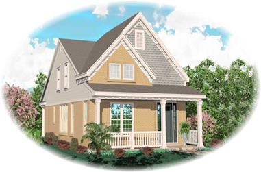 3-Bedroom, 1621 Sq Ft Coastal House Plan - 170-2996 - Front Exterior