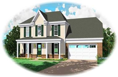 3-Bedroom, 1887 Sq Ft Country Home Plan - 170-2998 - Main Exterior