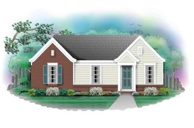 3-Bedroom, 912 Sq Ft Small House Plans - 170-2999 - Main Exterior