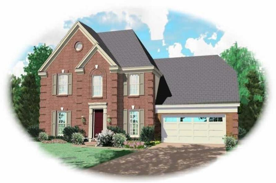 3-Bedroom, 1659 Sq Ft French Home Plan - 170-3001 - Main Exterior