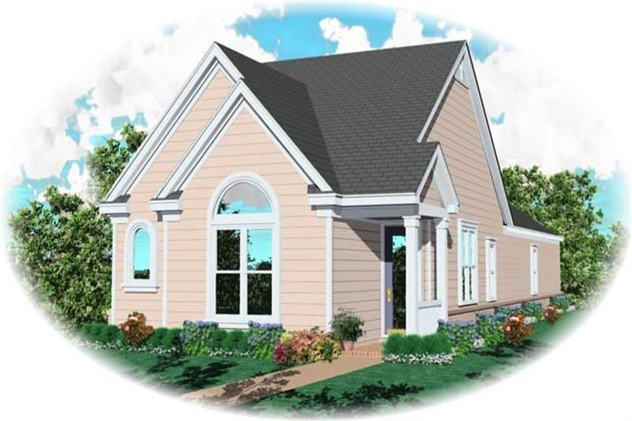 3-Bedroom, 1292 Sq Ft Small House Plans - 170-3006 - Front Exterior