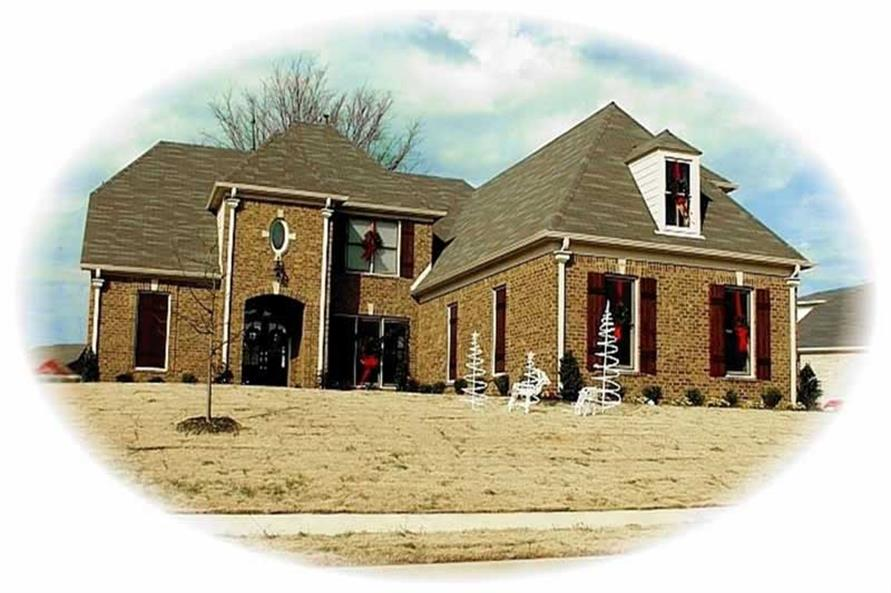4-Bedroom, 3394 Sq Ft French House Plan - 170-3016 - Front Exterior