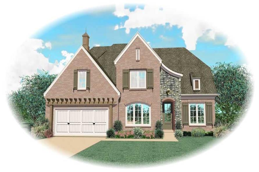 4-Bedroom, 3261 Sq Ft Country House Plan - 170-3021 - Front Exterior