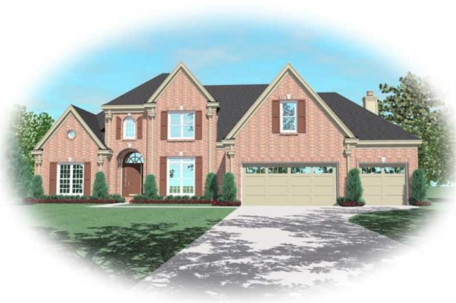 4-Bedroom, 3115 Sq Ft French House Plan - 170-3027 - Front Exterior