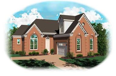 2-Bedroom, 1862 Sq Ft French House Plan - 170-3028 - Front Exterior
