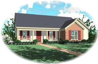 3-Bedroom, 1412 Sq Ft Country Home Plan - 170-3037 - Main Exterior