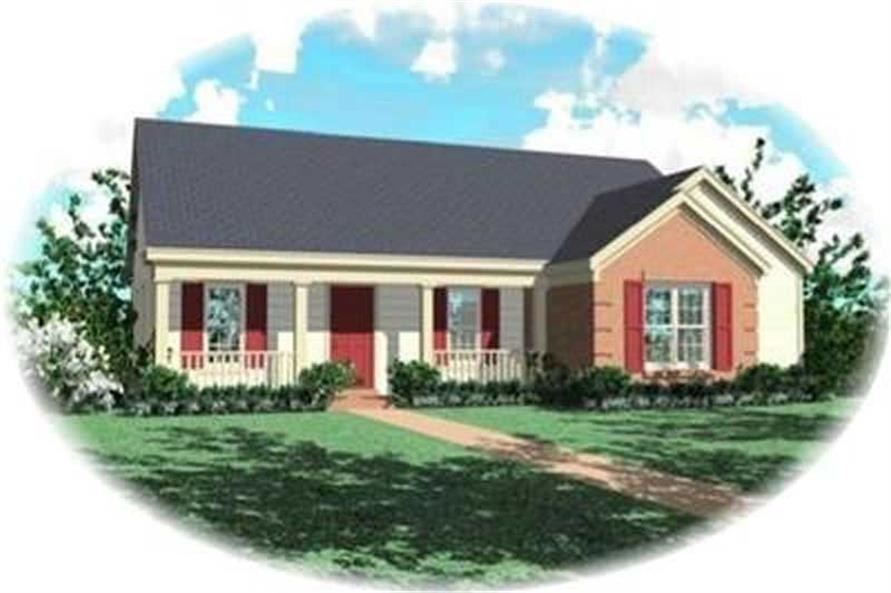 Main image for house plan # 8284