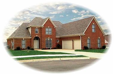 3-Bedroom, 3474 Sq Ft French Home Plan - 170-3039 - Main Exterior