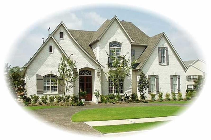 4-Bedroom, 3769 Sq Ft French House Plan - 170-3047 - Front Exterior