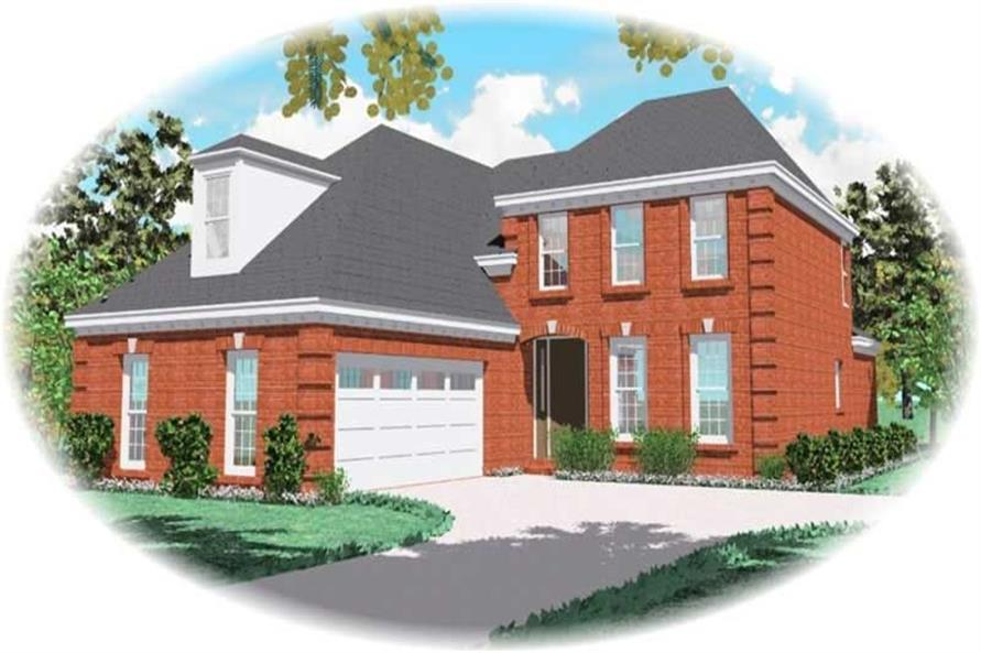 3-Bedroom, 2457 Sq Ft French House Plan - 170-3061 - Front Exterior