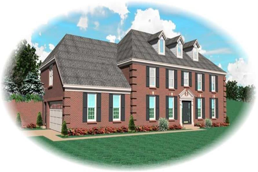 3-Bedroom, 2900 Sq Ft French House Plan - 170-3064 - Front Exterior