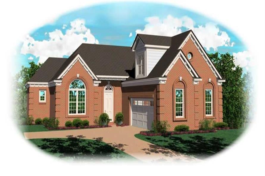2-Bedroom, 1562 Sq Ft French House Plan - 170-3067 - Front Exterior