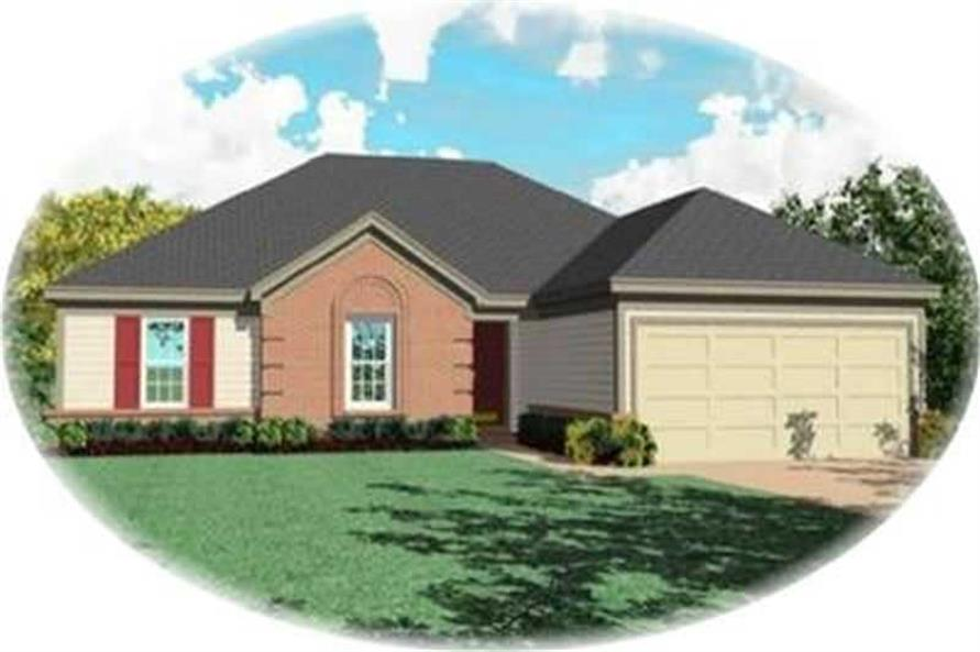 3-Bedroom, 1649 Sq Ft Ranch House Plan - 170-3070 - Front Exterior