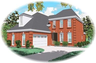 3-Bedroom, 2150 Sq Ft French House Plan - 170-3073 - Front Exterior