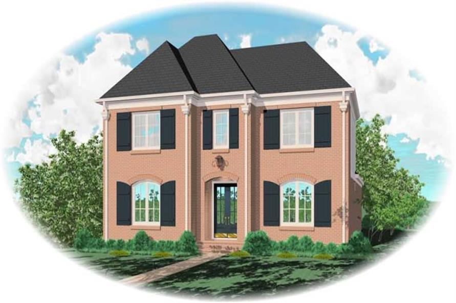 4-Bedroom, 3487 Sq Ft French House Plan - 170-3074 - Front Exterior