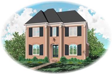 3-Bedroom, 3212 Sq Ft French House Plan - 170-3077 - Front Exterior