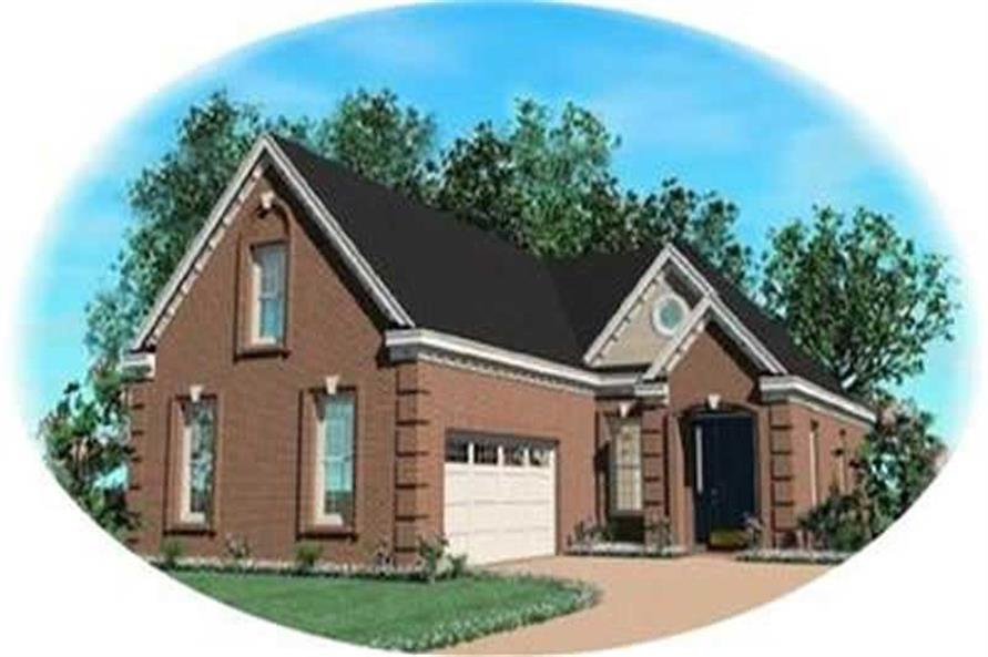 3-Bedroom, 2278 Sq Ft Contemporary Home Plan - 170-3086 - Main Exterior