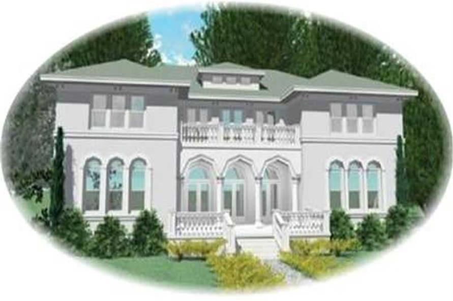 5-Bedroom, 5908 Sq Ft European Home Plan - 170-3087 - Main Exterior