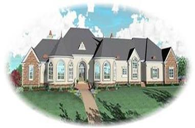 5-Bedroom, 7489 Sq Ft Contemporary Home Plan - 170-3088 - Main Exterior
