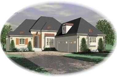 4-Bedroom, 3757 Sq Ft Contemporary Home Plan - 170-3089 - Main Exterior