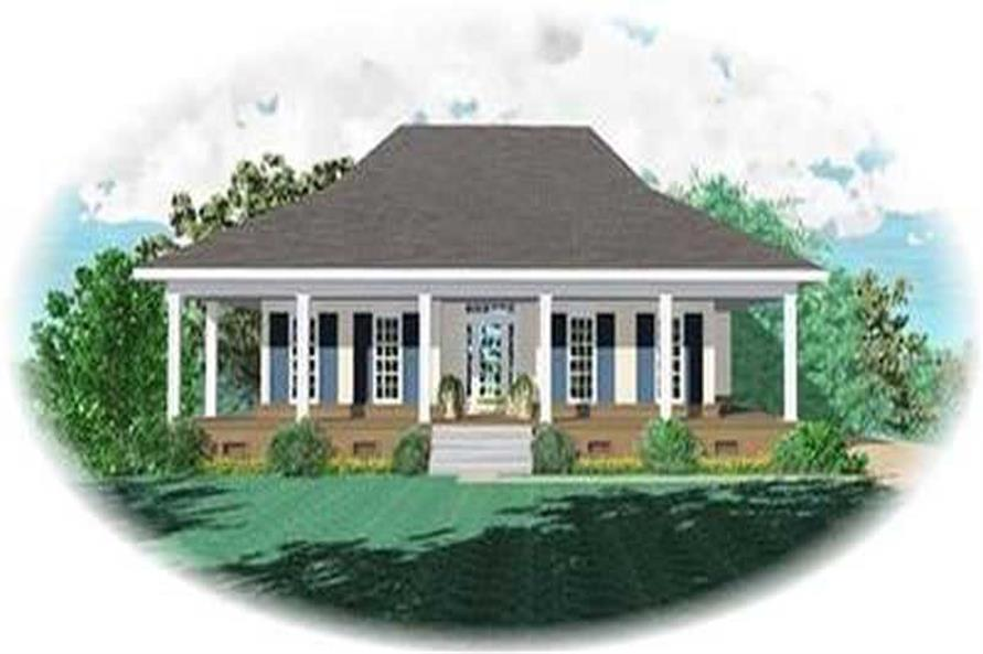 3-Bedroom, 1670 Sq Ft Country House Plan - 170-3094 - Front Exterior