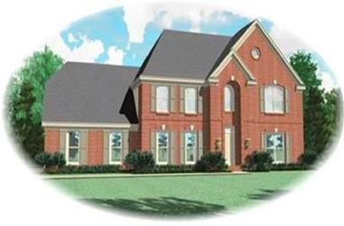 4-Bedroom, 2732 Sq Ft Colonial Home Plan - 170-3096 - Main Exterior