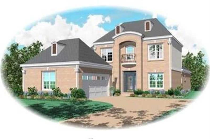 4-Bedroom, 2662 Sq Ft Contemporary House Plan - 170-3097 - Front Exterior