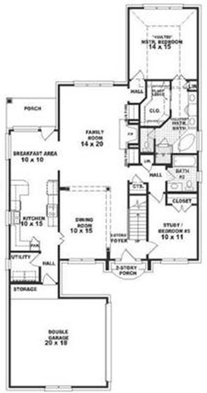 European contemporary french house plans home design for Floor plan in french