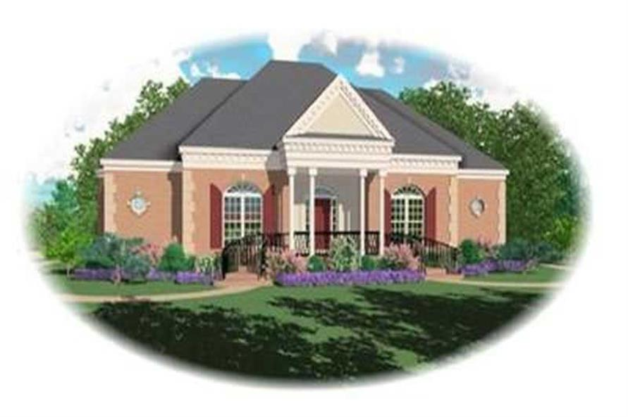 3-Bedroom, 2753 Sq Ft Colonial House Plan - 170-3099 - Front Exterior