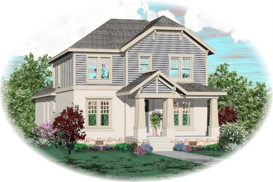 3-Bedroom, 3084 Sq Ft Craftsman Home Plan - 170-3100 - Main Exterior