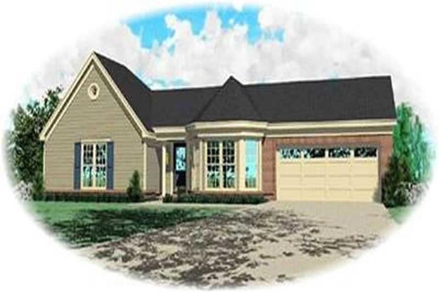 3-Bedroom, 1346 Sq Ft Contemporary House Plan - 170-3102 - Front Exterior