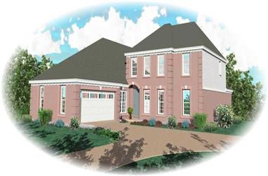 3-Bedroom, 3110 Sq Ft Traditional Home Plan - 170-3104 - Main Exterior