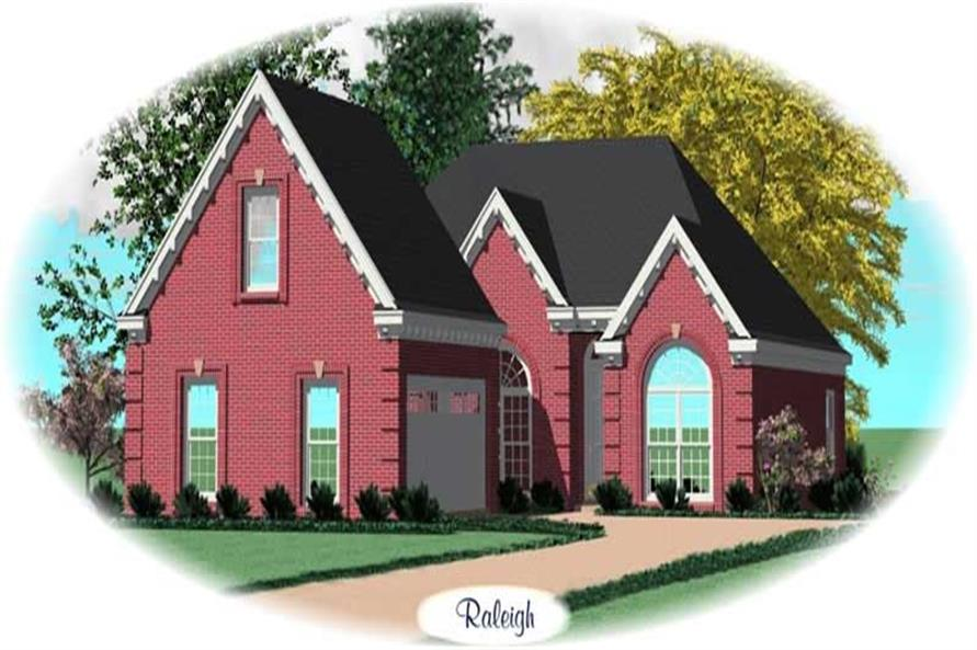 2-Bedroom, 1912 Sq Ft Traditional Home Plan - 170-3116 - Main Exterior